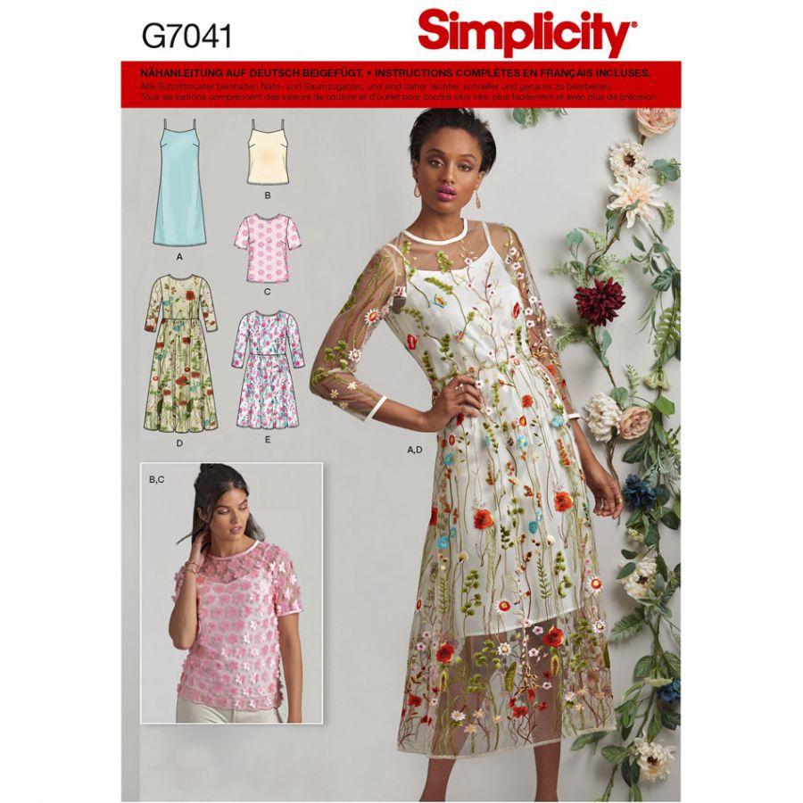 Patron de robe et haute simplicity 7041