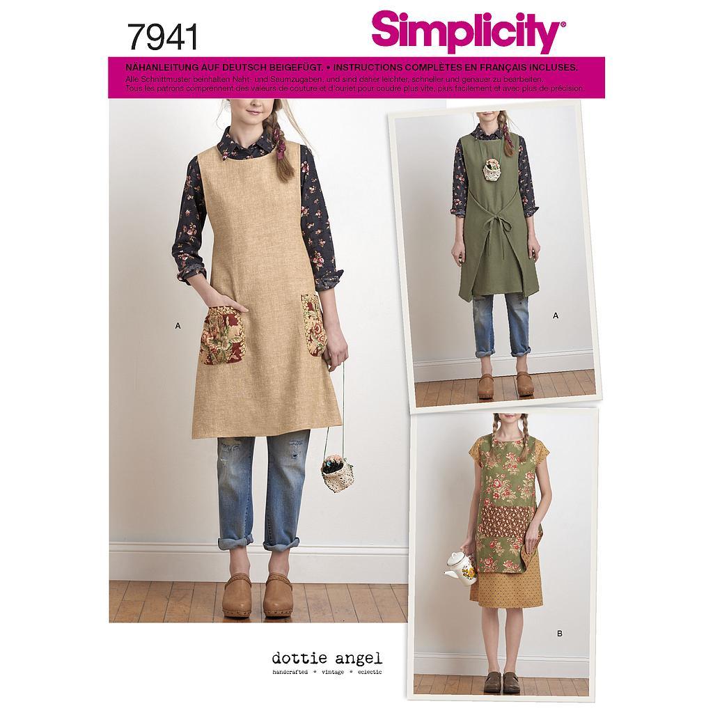 Patron robe tablier -Simplicity-7941